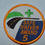 14-3 SAFE DRIVER AWARD PATCH 5 YEAR