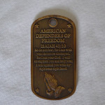 DOG TAG STYLE MILITARY COIN